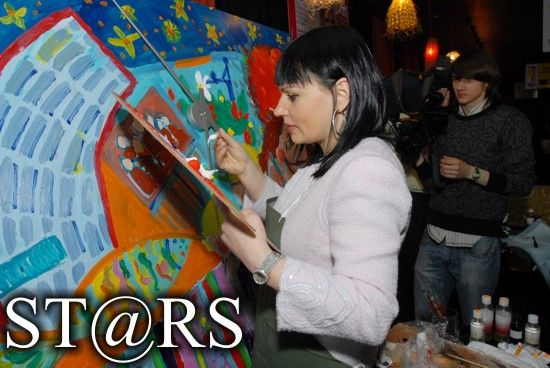Скрипка и Билык нарисовали картины для проекта Татьяны Рамус (ФОТО)