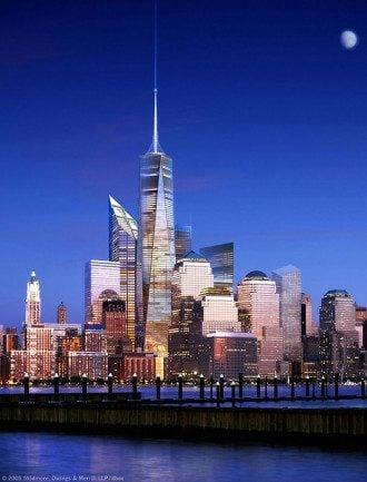В Нью-Йорке на месте башен-близнецов построили 540-метровый  небоскреб