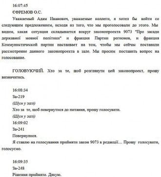 Языковой закон принят с нарушениями – стенограмма