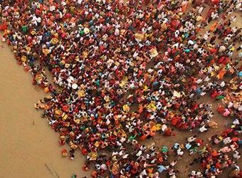 В городе и его окрестностях собралось 30 миллионов человек