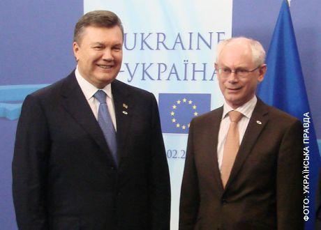 Янукович побеседовал с ван Ромпеем