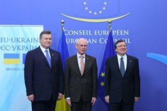 Президент Янукович и Украина получили от ЕС аванс