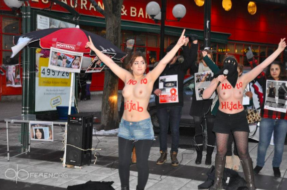 FEMEN разделись против хиджаба