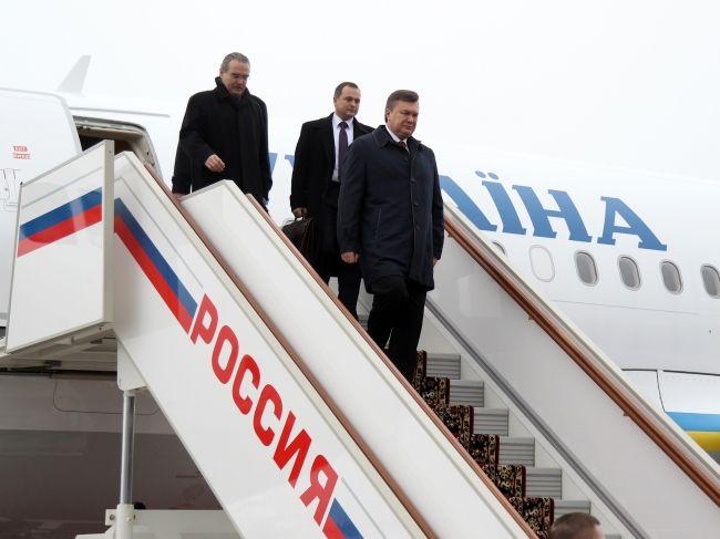 Янукович прибыл в Россию с рабочим визитом