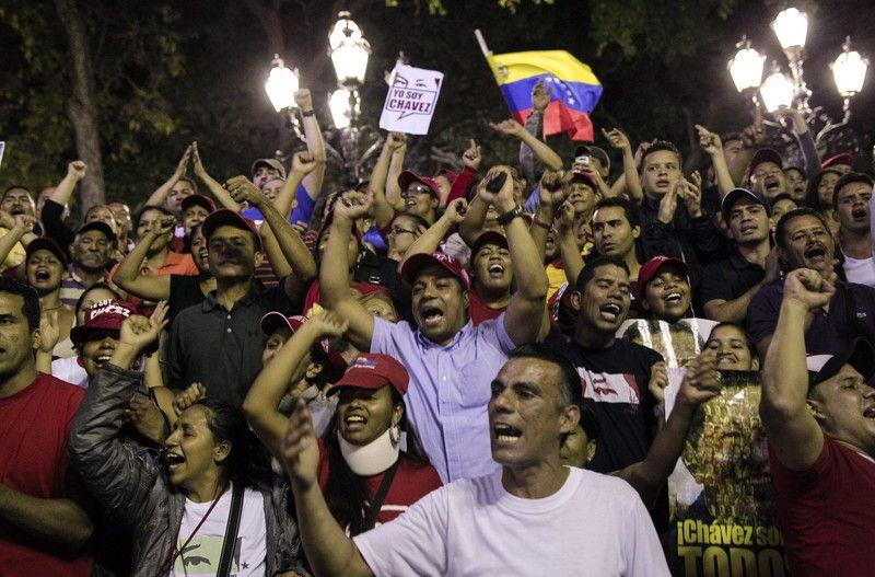 Красный - цвет боливарианской революции