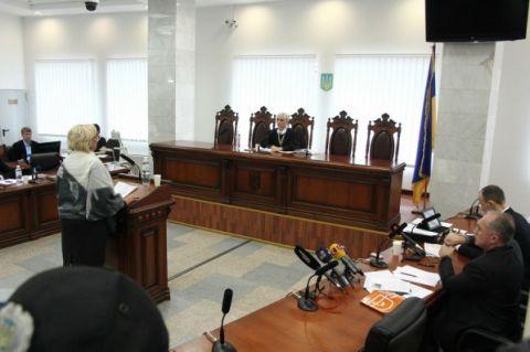 Александра Кужель в суде