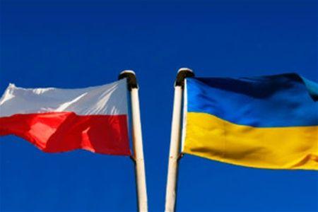 Флаги Польши и Украины, иллюстрация