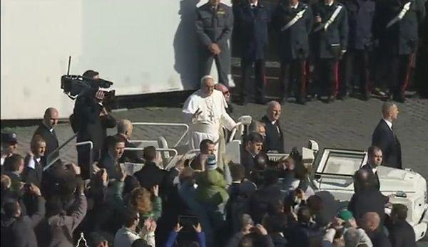 Папа Римский на интронизации
