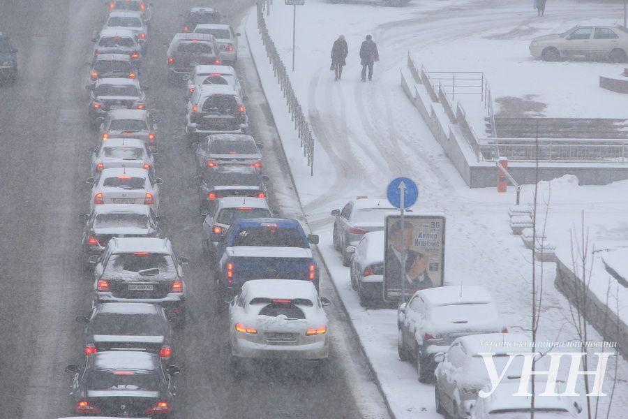 22 марта 2013 года - небывалый снегопад в Киеве
