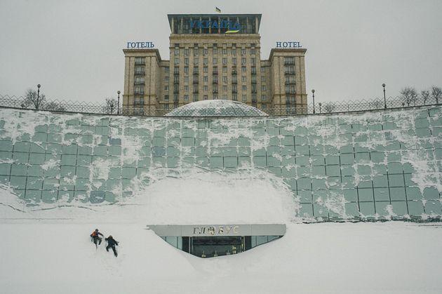 Прошлогодний снегопад на Майдане
