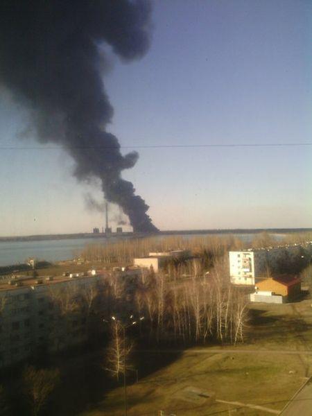 Пожар на Углегорской ТЭС потушен