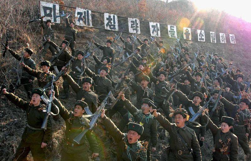 Бойцы Корейской народной армии