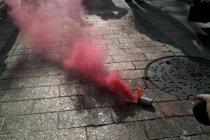 Розовый дым