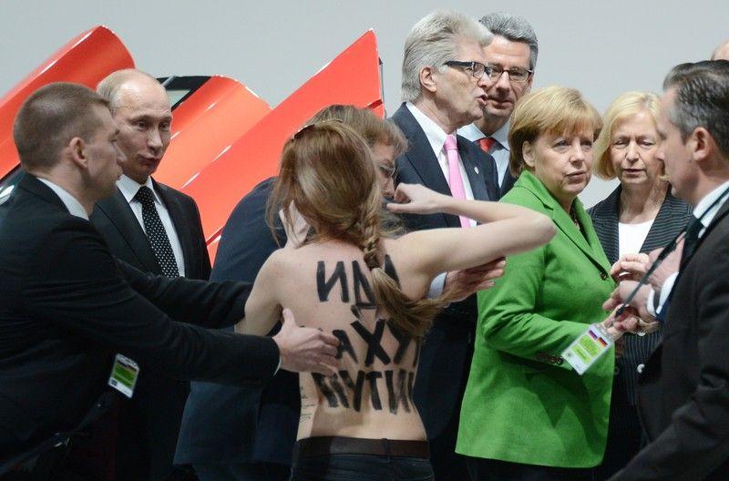 Акция FEMEN в Ганновере Путину понравилась