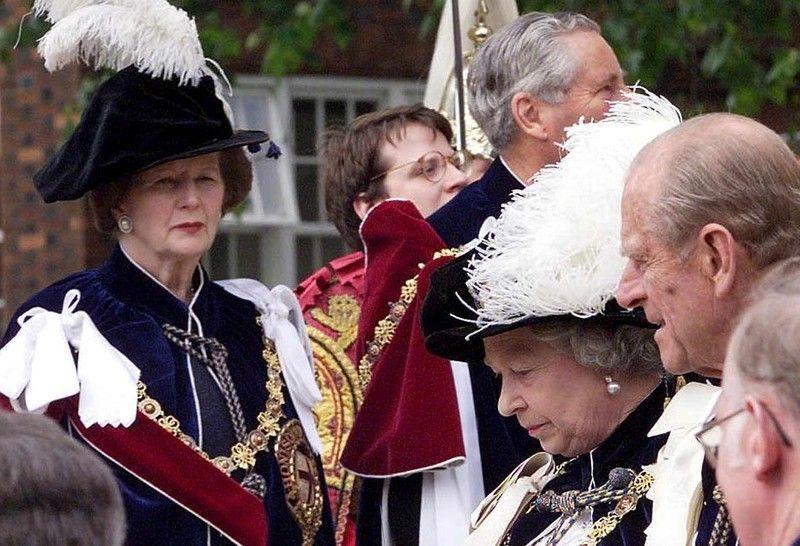 Маргарет Тэтчер и Елизавета ІІ