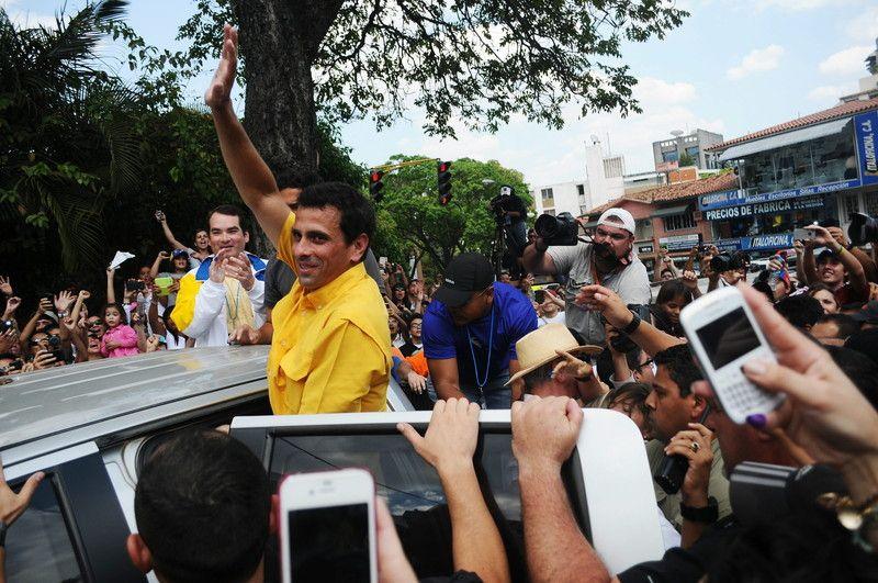 кандидат от оппозиции Энрике Каприлес