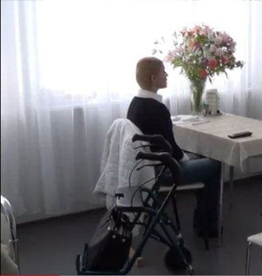 Юлия Тимошенко в больничной палате