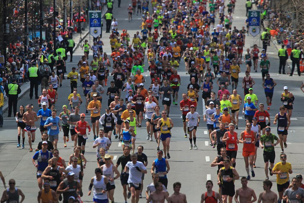 Бостонский марафон. Иллюстрация