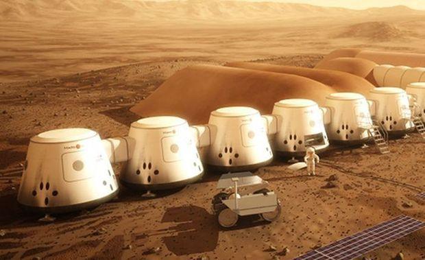 Будущая колония на Марсе