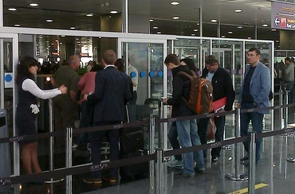 Луценко в аэропорту
