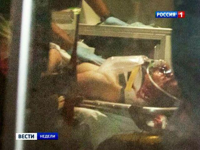 Джохар Царнаев на операционном столе