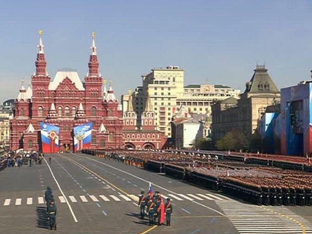 Парад на Красной площади в Москве, иллюстрация