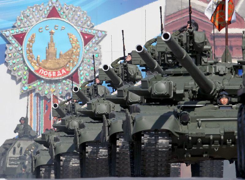 Парад в Москве, посвященный 9 мая, иллюстрация