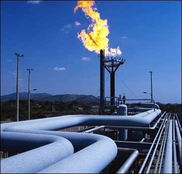 Газовый факел, иллюстрация