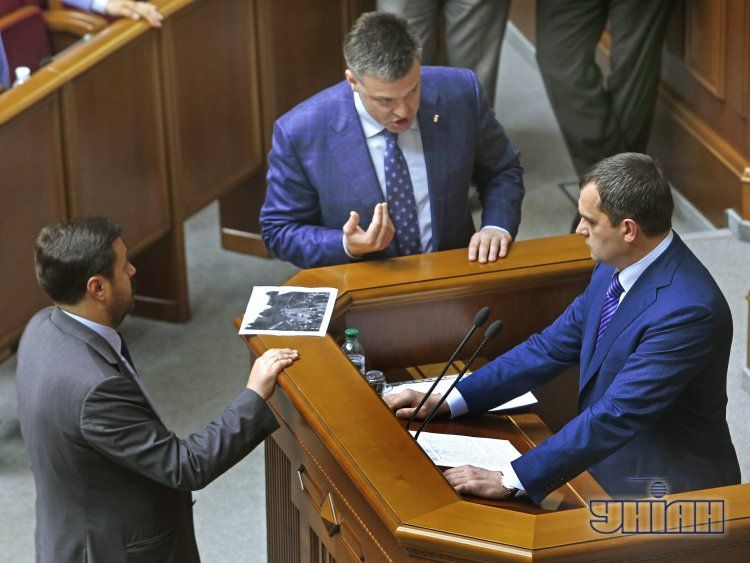 Тягнибок и Захарченко в Раде