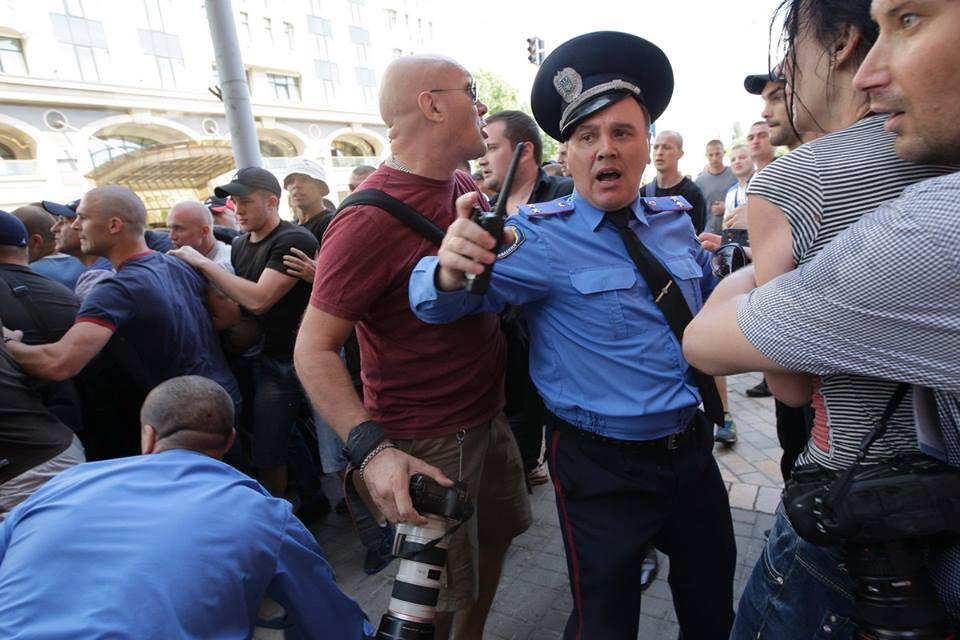 Милиция не защитила журналистов