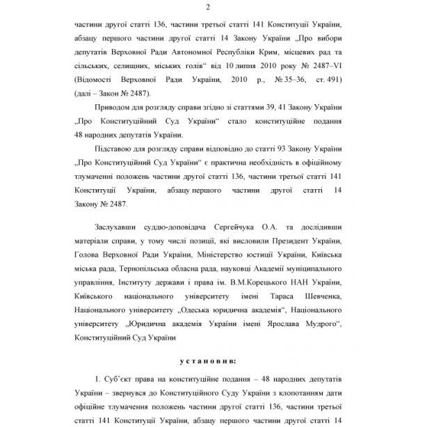 Выборы в Киеве перенесли ради стабильности: полный текст решения КС