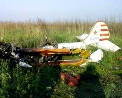 При крушении самолета один человек погиб, второ - тяжело ранен