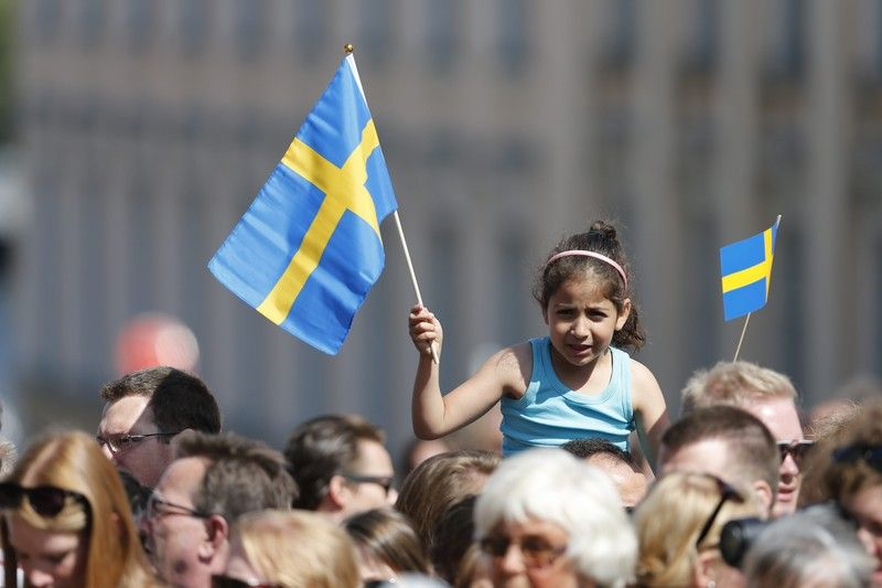 Шведский флаг, иллюстрация