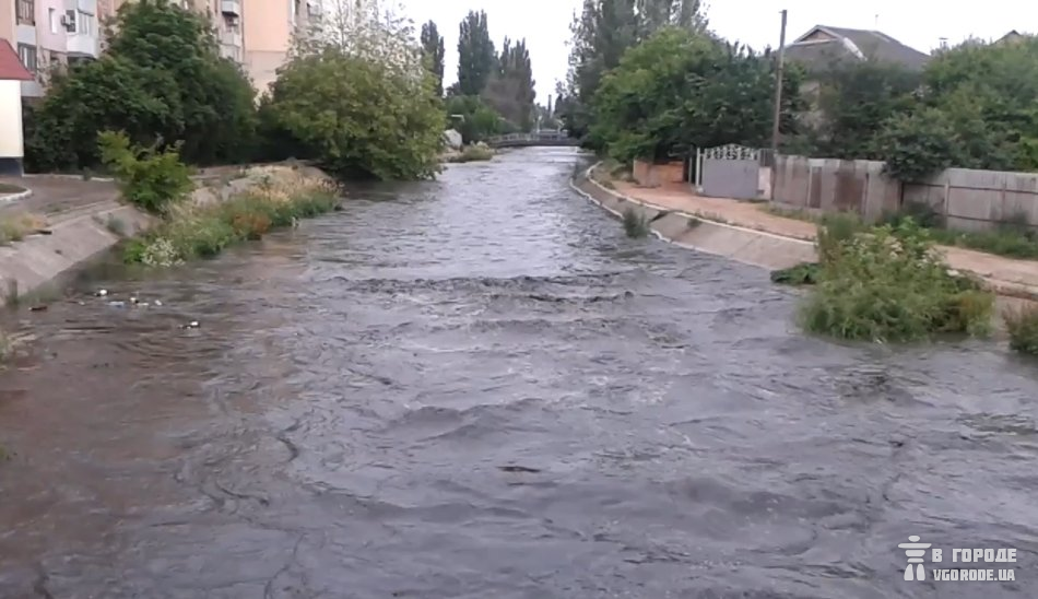 Салгир в районе ул. Ларионова