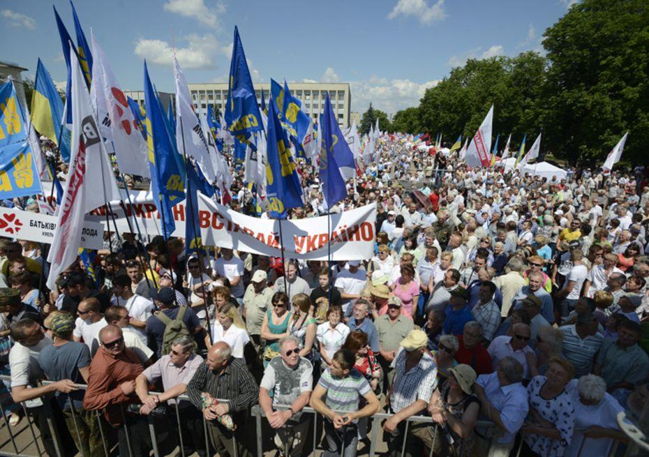 25% укранцев готовы к маршам и митингам