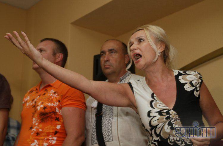 Ирина Фарион в Донецке