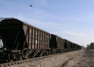Грузовой поезд. Иллюстрация