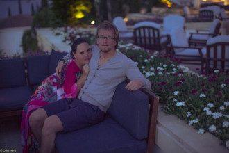 Оксана Барак с бойфрендом на Кипре