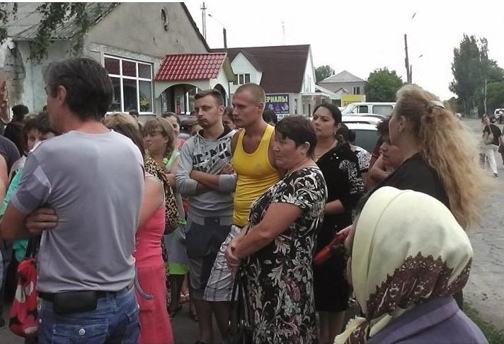 Вчера во Врадиевке прошел стихийный митинг