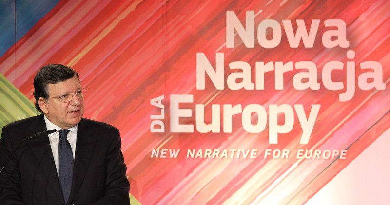 президент Еврокомиссии Жозе Мануэл Баррозу  во время международной конференции в Варшаве