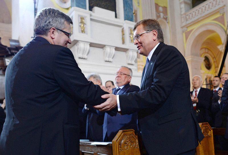 Коморовского в Луцке сопровождал Грищенко