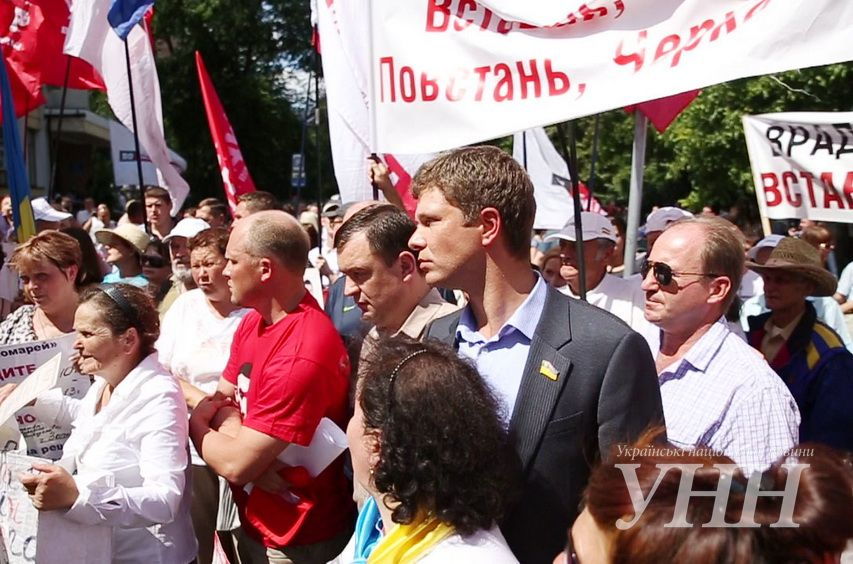 От МВД Врадиевский марш ушел на Майдан