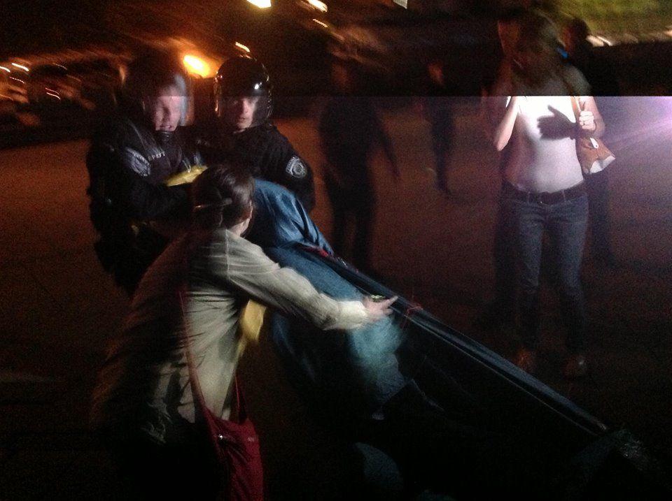 Разгон митинга на Майдане
