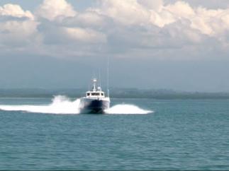 Катер в Азовском море, иллюстрация