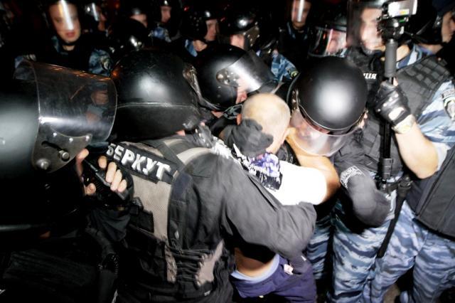 Разгон акции на Майдане