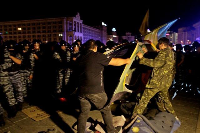 Разгона акции на Майдане