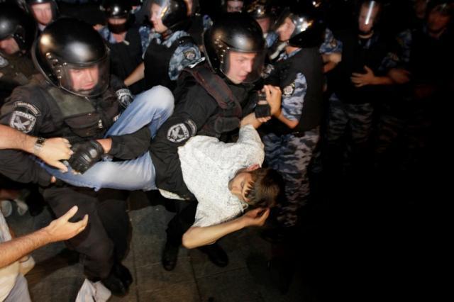 Разгон прошлой акции на Майдане