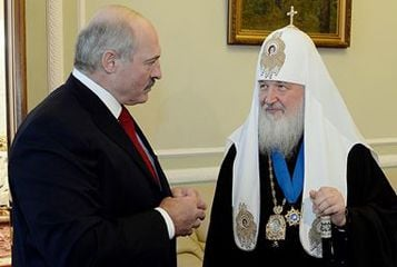 Президент Беларуси Александр Лукашенко и патриарх Кирилл