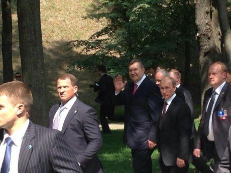 Янукович и Путин на Владимирской горке