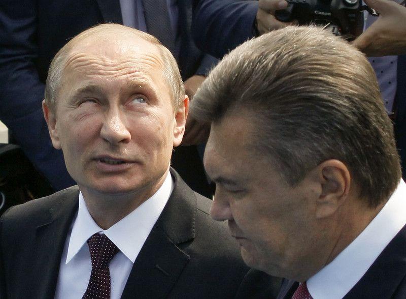 Президент РФ Владимир Путин и президент Виктор Янукович